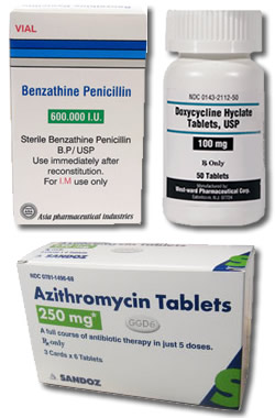 list of antibiotics for the treatment of syphilis